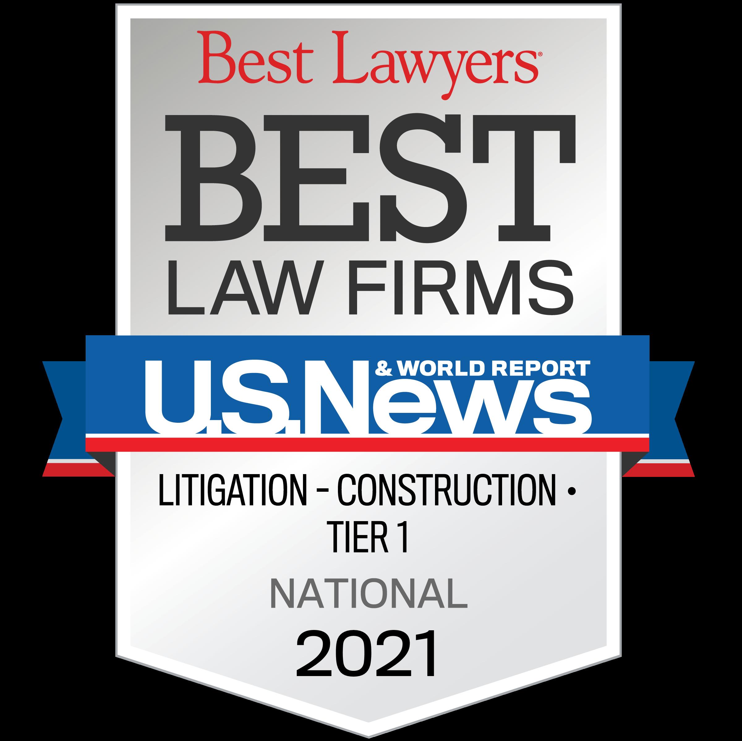 Litigation – Construction Tier 1 2021